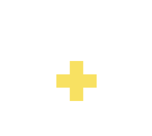 Yellow Red Cross symbol on teal house icon reflects healthcare provider long-term care prescription enrollment for patients