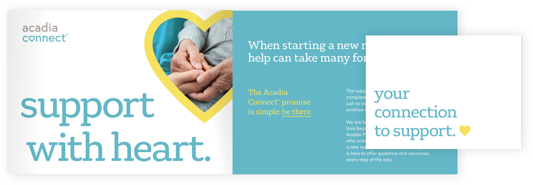 Snapshot of Acadia Connect brochure; PDF available for download