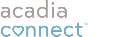 Acadia Connect logo in global header links to home page